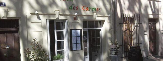 «Au Jardin des Carmes» en Avignon