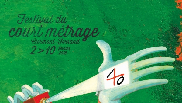 Affiche du 40eme festival du film court de Clermont-Ferrand