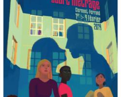 Auraone, radio du court-métrage dans la région Auvergne Rhône-Alpes, vous présente l'affiche du festival de Clermont 2019.