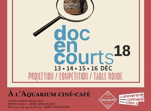 18ème FESTIVAL « DOC EN COURTS » À L'AQUARIUM CINÉ CAFÉ