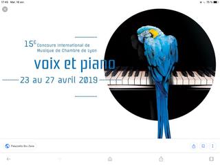RÉCITALS VOIX ET PIANO, DU 23 au 27 AVRIL, À LYON.