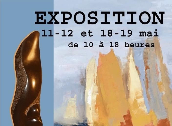 Exposition à Saint-Cyr-au-Mont-d'Or : Chantal PARISE, peintre et Renée MOAL, sculpteur.