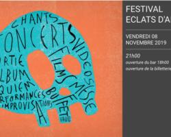 FESTIVAL « ÉCLATS D'ARFI », LES 8,9,et 10 novembre, AU PÉRISCOPE à LYON.