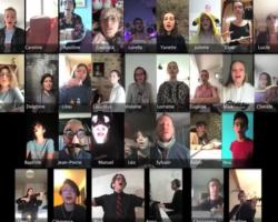 VIDÉO – Valence : pendant le confinement, des lycéens lancent une chorale sur internet