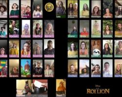 """Valence : soixante musiciens et chanteurs de la chorale confinée reprennent """"Le Roi lion"""" !"""