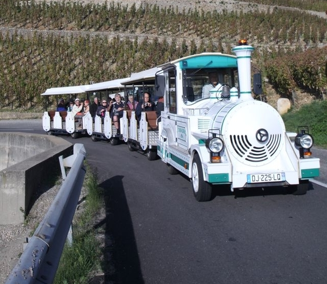 Drôme : Le petit train des vignes : balade à travers les vignes de Tain l'Hermitage